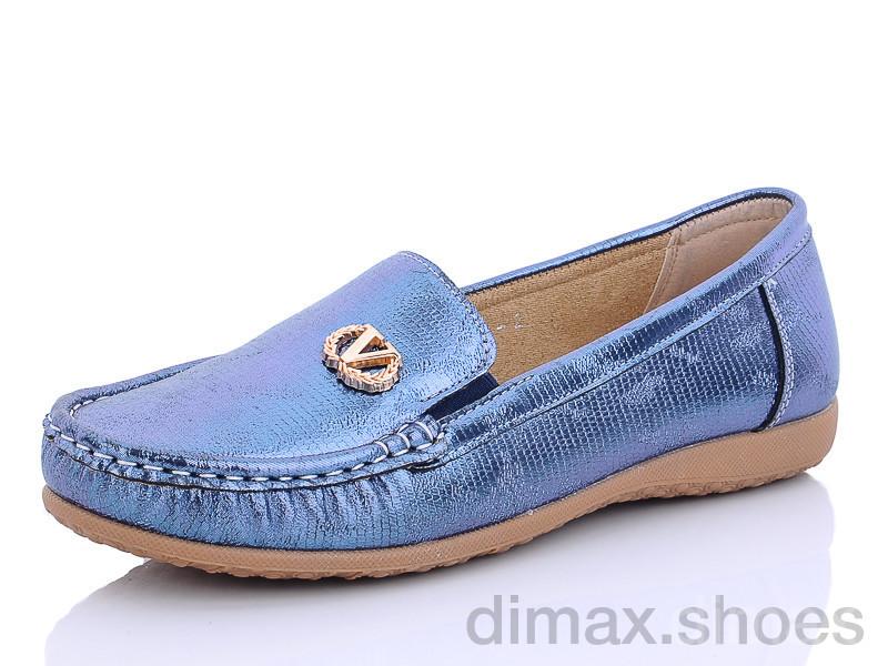 PTPT W201956-2 синий Мокасины