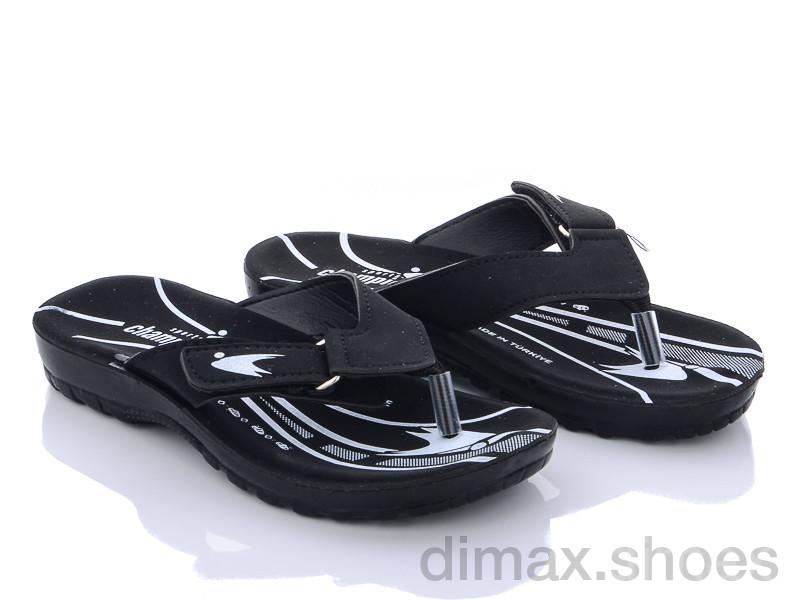 DeMur B6101 black Шлепки