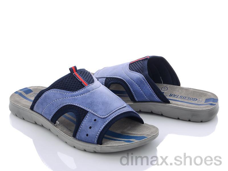 DeMur M6133 blue Шлепки