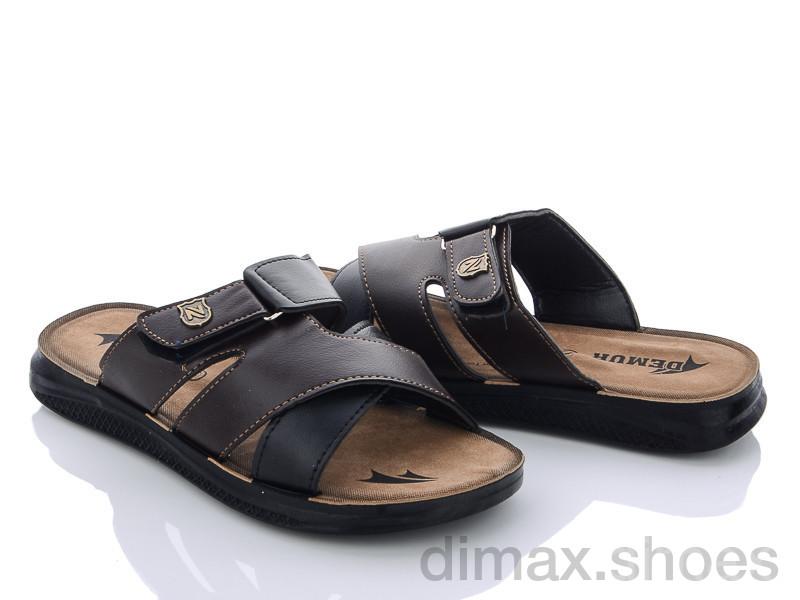 DeMur M6111 black-brown Шлепки