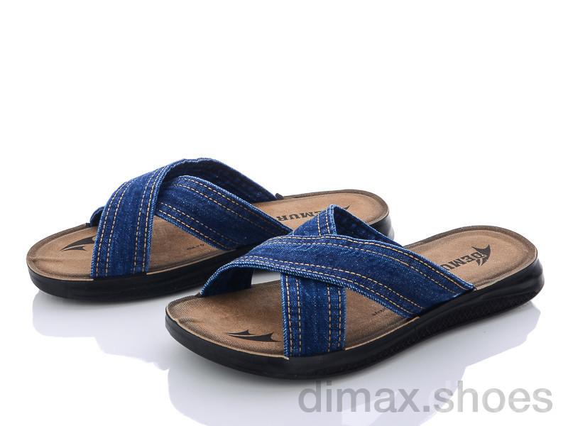 DeMur M6105 blue Шлепки