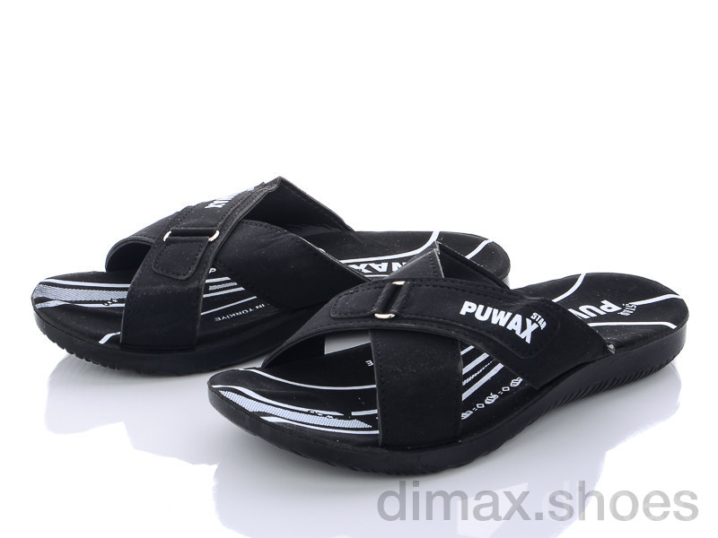 DeMur A6103 black Шлепки