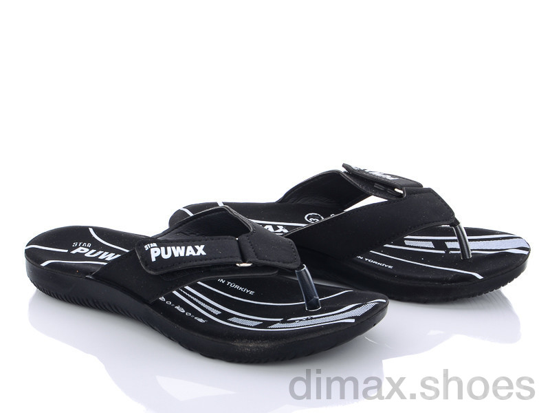 DeMur A6101 black Шлепки