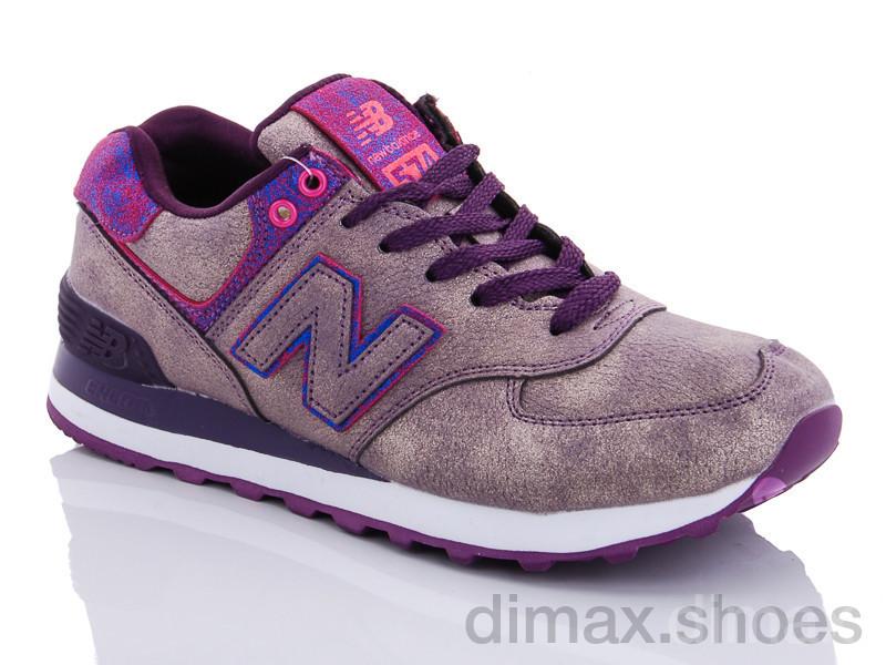 CR 574 purple Кроссовки
