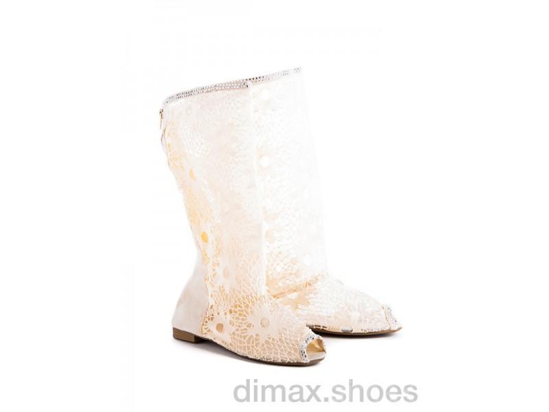 Diana N6 beige АКЦИЯ Сапоги