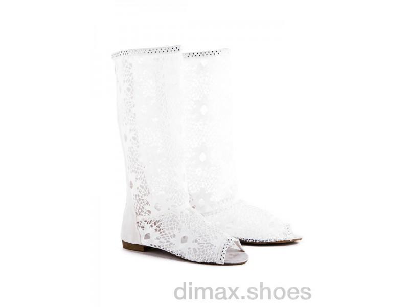 Diana N6 white АКЦИЯ Сапоги