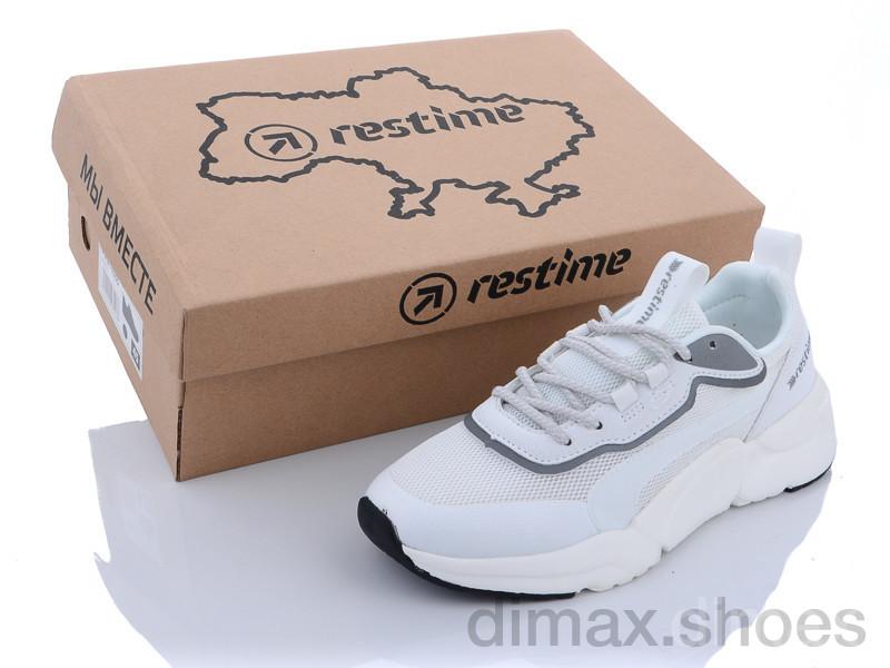 Restime IWL21800 white-silver Кроссовки