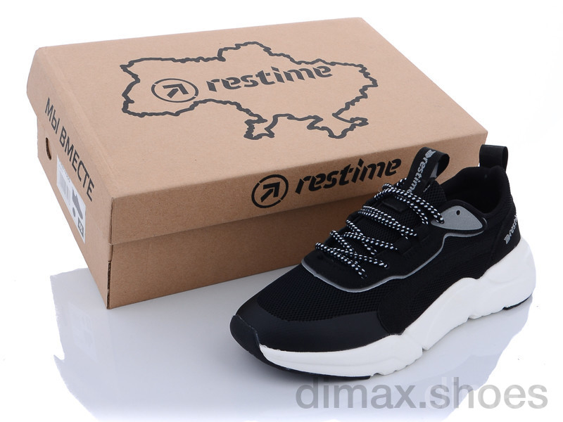Restime IWL21800 black-silver Кроссовки