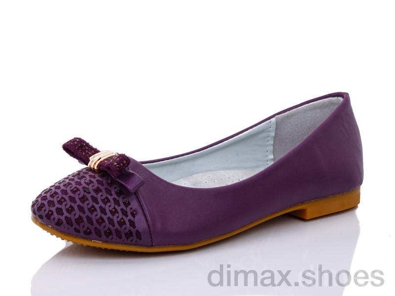 Леопард Y12-6 фиолетовый Балетки