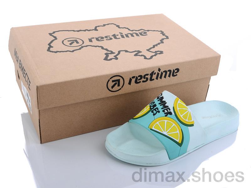 Restime MWL20734 mint-yellow Шлепки