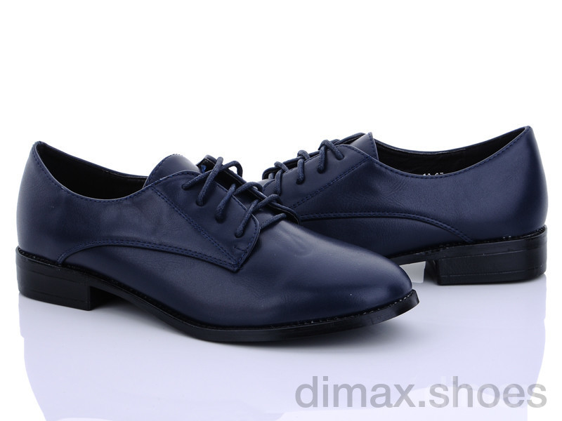 QQ shoes 3139-13 синий Туфли