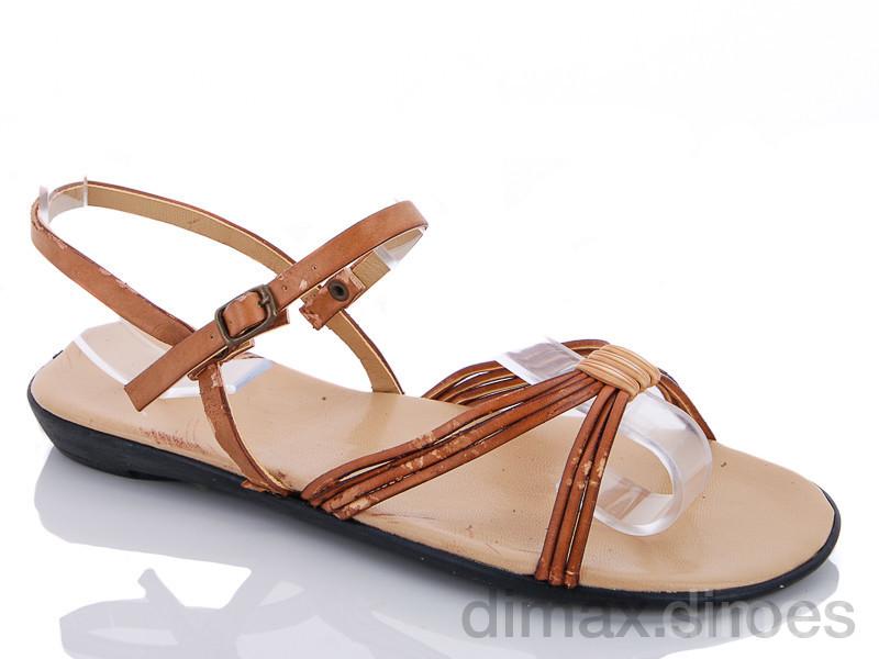 Selena 040 сандаль коричневый Босоножки