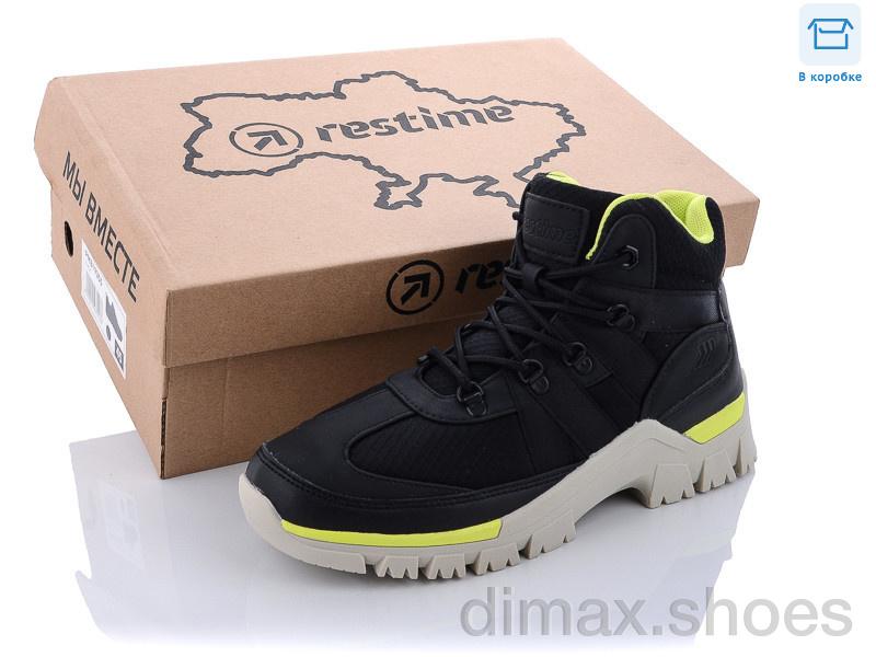 Restime SW021333 black-lemon Кроссовки