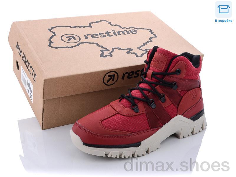 Restime SW021333 d.red-black Кроссовки