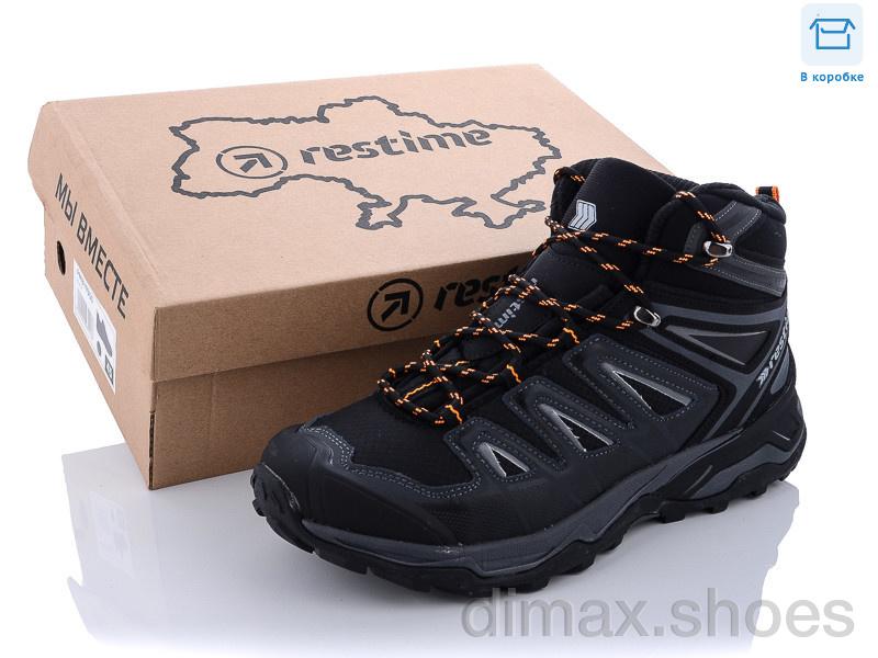 Restime AM021907 black-d.grey-yellow Ботинки
