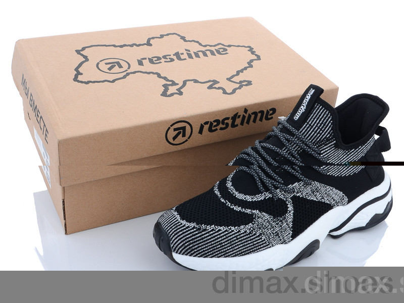 Restime BML21432 black-grey Кроссовки