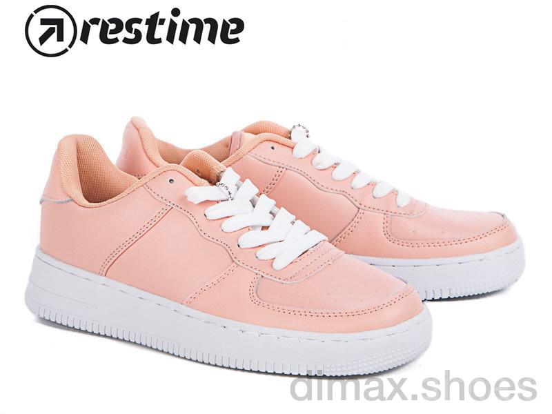 Restime PWB17048 pink-white Кроссовки