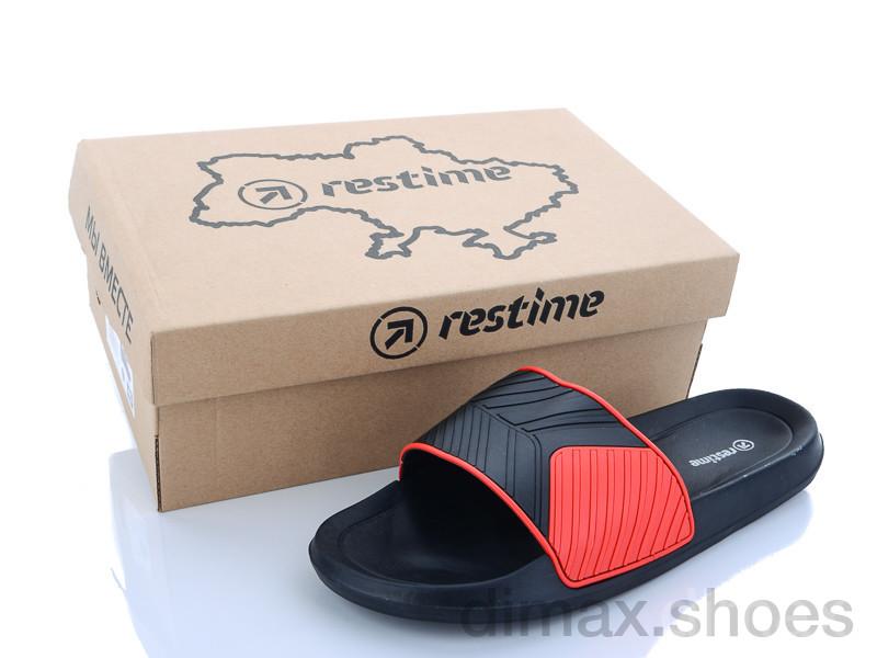 Restime MML20003 black-red Шлепки