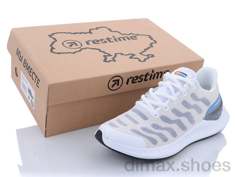 Restime SWL21838 white-periwinkle Кроссовки