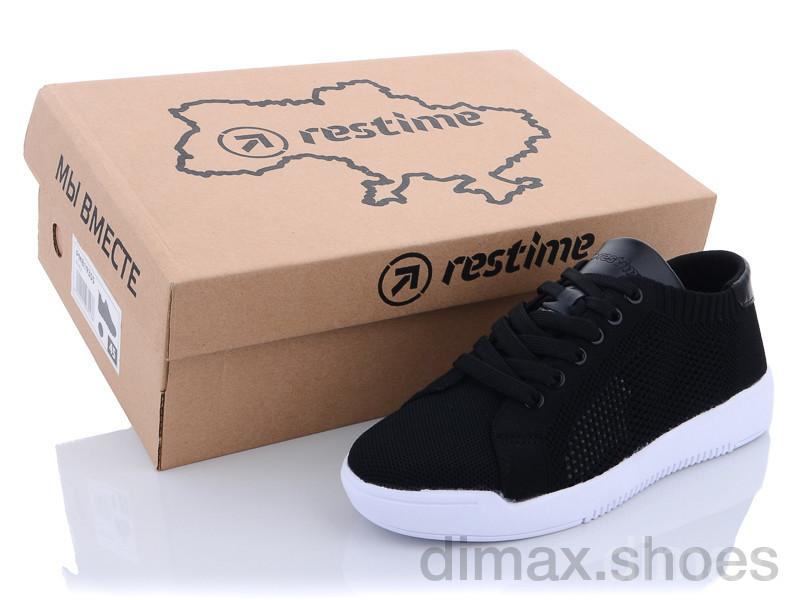 Restime SWL21835 black-white Кроссовки