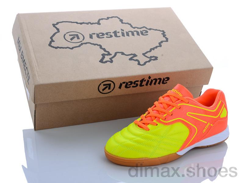 Restime DDB20210 r.orange-lime Футбольная обувь
