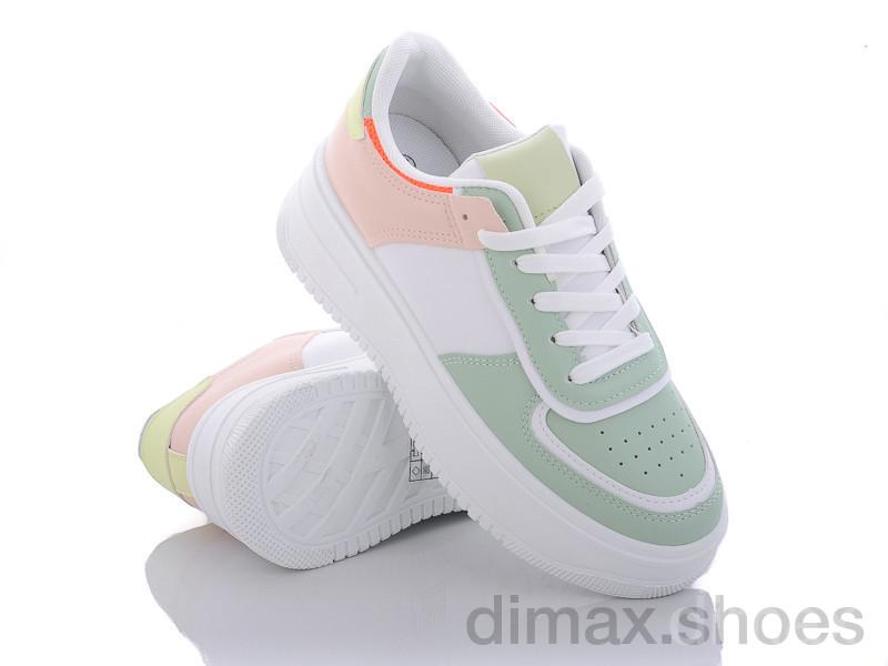 Violeta 20-857-9 green-pink Кроссовки