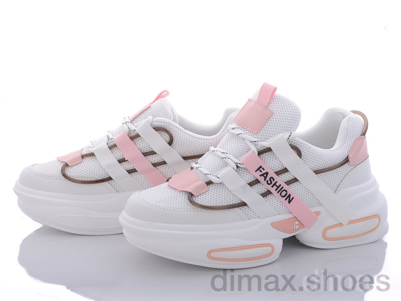 Violeta 149-3 white-pink Кроссовки