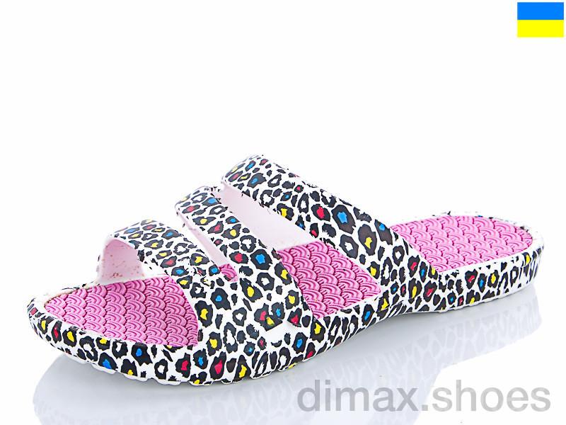 Progress Ж крок 09 розовый леопард Шлепки